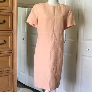 NWT Evan-picone short sleeve linen dress size 14